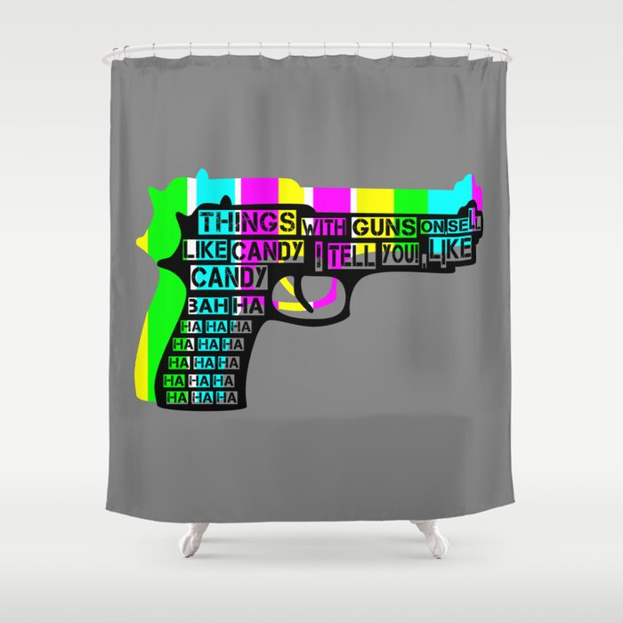Guns And Candy Shower Curtain