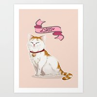 because cats Art Prints featuring Because Cats by Cat Doodle