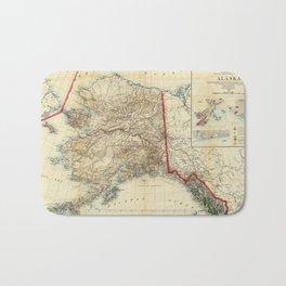 Vintage Map of Alaska (1906) Bath Mat