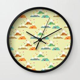 Mountain Friends Wall Clock