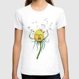 Angry Flower Whimsical Art T-shirt