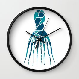 OCTOPUS SILHOUETTE WITH PATTERN Wall Clock