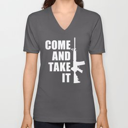 Come and Take it with AR-15 inverse Unisex V-Neck