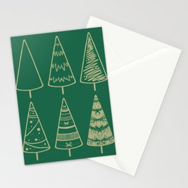 Christmas trees Stationery Cards