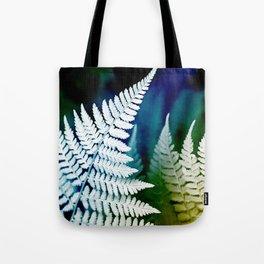 Blue Fern Leaf Art Tote Bag