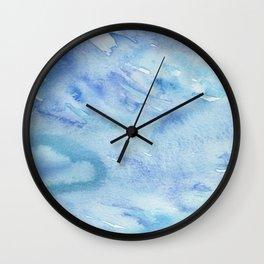 Watercolor abstract ocean Wall Clock