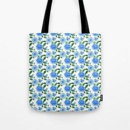 Elegant blush blue green watercolor peonies floral pattern Tote Bag