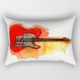 Watercolor guitar Rectangular Pillow