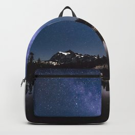 Summer Stars - Galaxy Mountain Reflection - Nature Photography Backpack