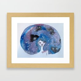 Galaxy Brain  Framed Art Print