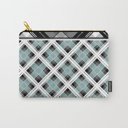 Tartan 1 blue , gray blue Carry-All Pouch