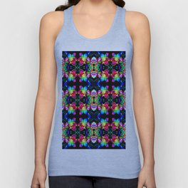 Colorful  Bright Seamless Flower Pattern Unisex Tank Top