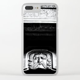 Disapproving Scowl Clear iPhone Case