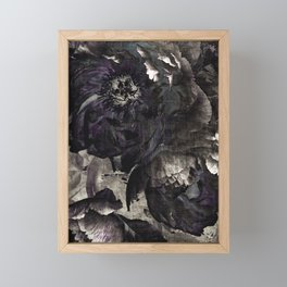 goth peony Framed Mini Art Print