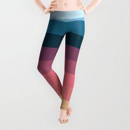 Classic Polychrome Retro Stripes Leggings
