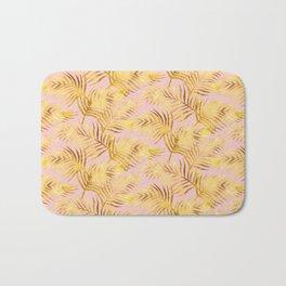 Palm Leaves_Gold and Rose Quartz Bath Mat