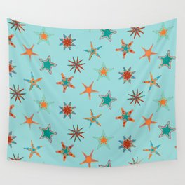 Fish tales: Starfish pattern 1d Wall Tapestry