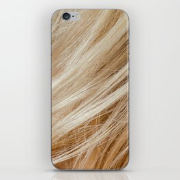 Wavy blonde woman hair background and texture iPhone Skin