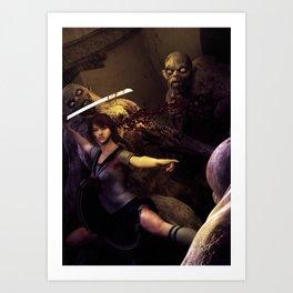 Night Fight Art Print
