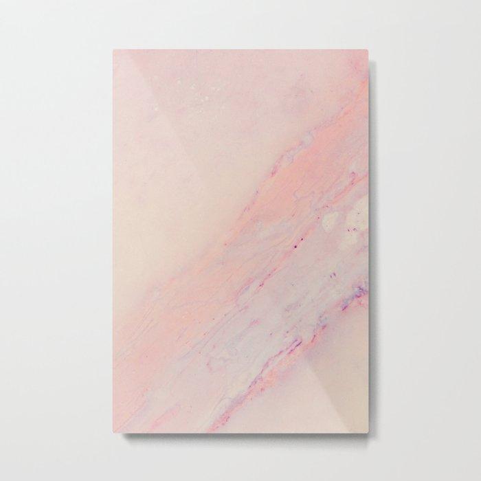 Delicate Pink Marble Metal Print
