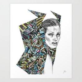 Origami Girl Three Art Print