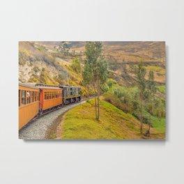 Train Trip Alausi Ecuador Metal Print