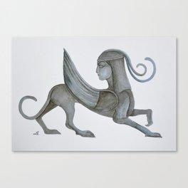 Watercolor Sphinx Canvas Print
