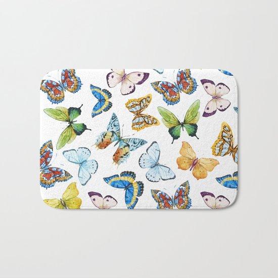 Butterfly Pattern 02 Bath Mat