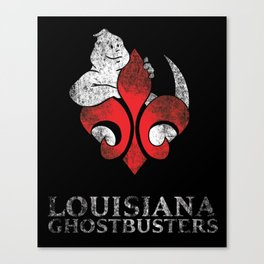 Louisiana Ghostbusters Distressed Logo Canvas Print