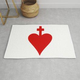 sacred heart 5 Sacratissimum Cor Iesu Sacré cœur Sagrado Corazón Rug