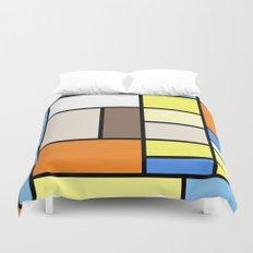 The Colors of / Mondrian Series - To toro - Miyazaki Duvet Cover