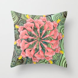 Rotary Fisting Throw Pillow