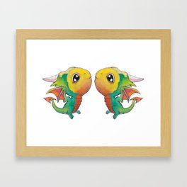 Parrot Dragons Framed Art Print