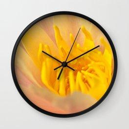 pinky yellow centre Wall Clock