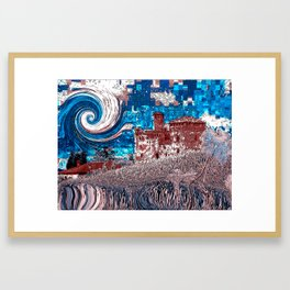 Castello Langhe -Art Digital Original- Framed Art Print