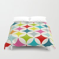 carnival Duvet Covers featuring Carnival by Red Umbrella Designs