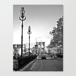 WHITEOUT : Brooklyn Bridge Canvas Print