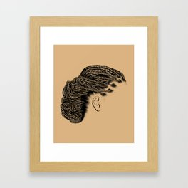 Crown: Braided Lower Messy Bun Framed Art Print