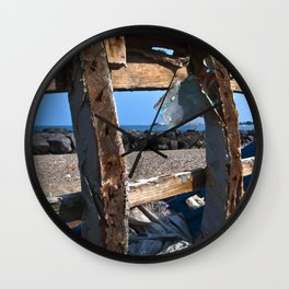 OLD WRECK of GIARDINI NAXOS at SICILY - SICILIA BEDDA Wall Clock