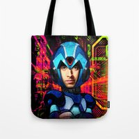 megaman Tote Bags featuring Megaman wolowitz by seb mcnulty