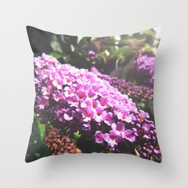 Pink Buddleia Throw Pillow