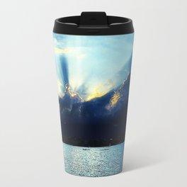 Sunset Lake Geneva Switzerland Travel Mug