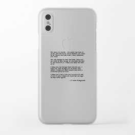 For what it's worth - F Scott Fitzgerald quote Clear iPhone Case