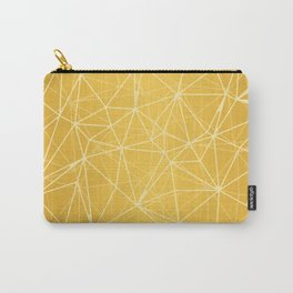 Mosaic Triangles Repeat Seamless Pattern gold Carry-All Pouch