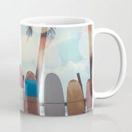 Surf Life Tropical Coastal Landscape Surfboard Scene Coffee Mug