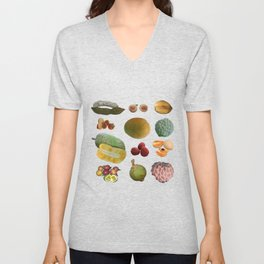 Exotic Fruit Collage Unisex V-Neck