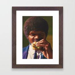 Tasty Burger Framed Art Print