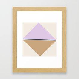 Lavender Ice Cream Framed Art Print