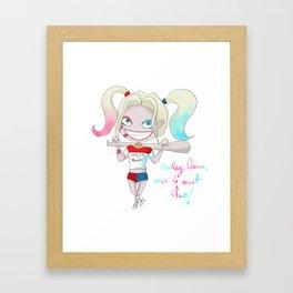 Harley Quin Doodle Framed Art Print