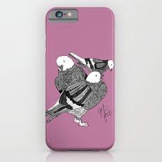 Three Pigeons Getting Fat iPhone 6s Slim Case